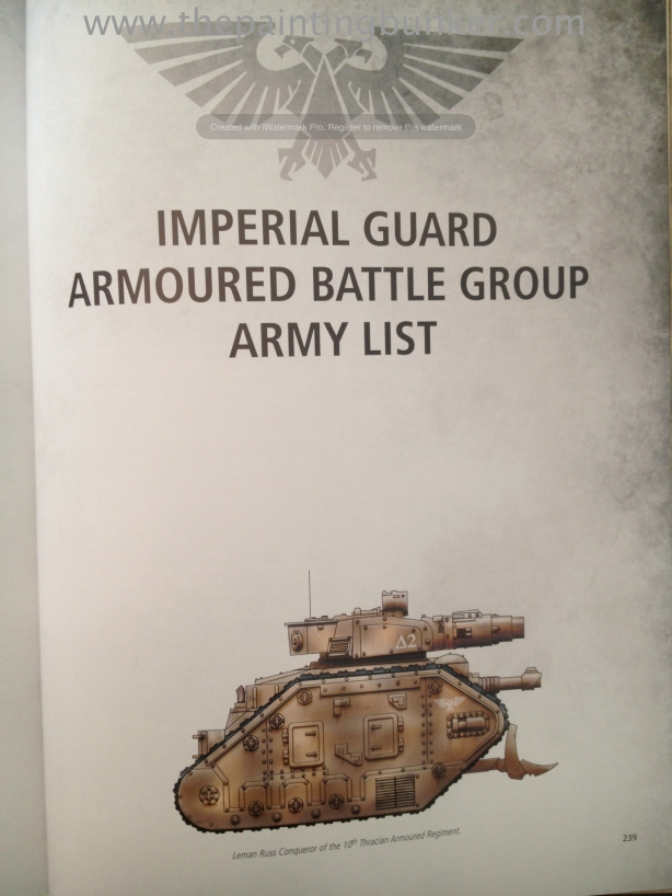 Forge World Imperial Armour Volume 1 Second Edition Armoured Battle Group