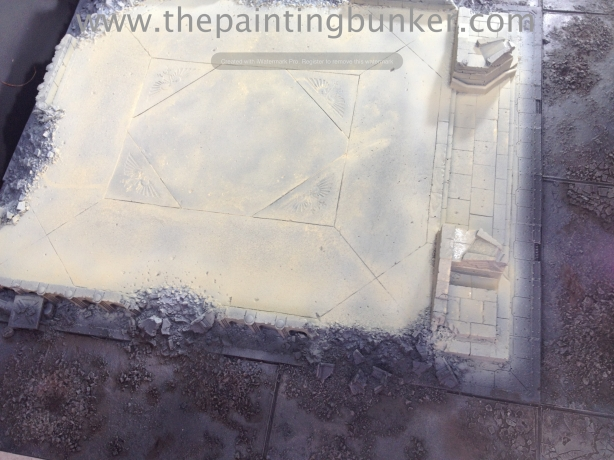 Forge World Realm of Battle Cityscape Board Shattered Plaza Marble 1 via www.thepaintingbunker.com