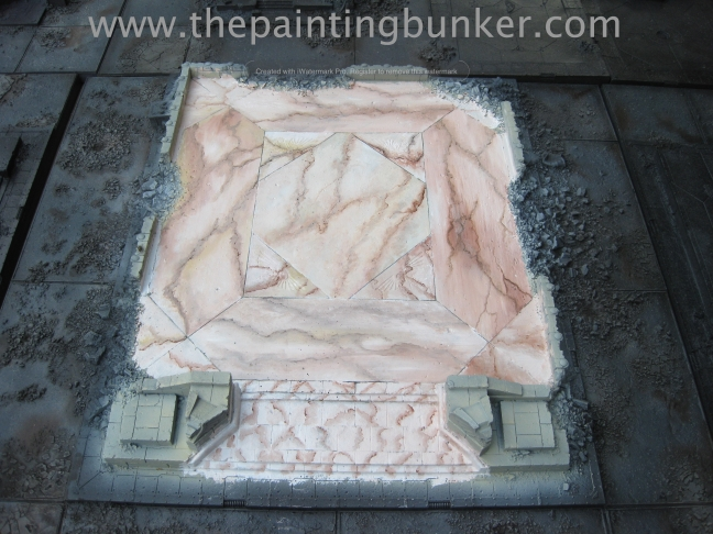 Forge World Realm of Battle Cityscape Board Shattered Plaza Marble 9 via thepaintingbunker.com