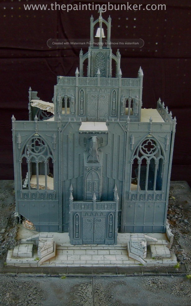 Forge World Realm of Battle Cityscape Shattered Plaza Cathedral 1 via www.thepaintingbunker.com