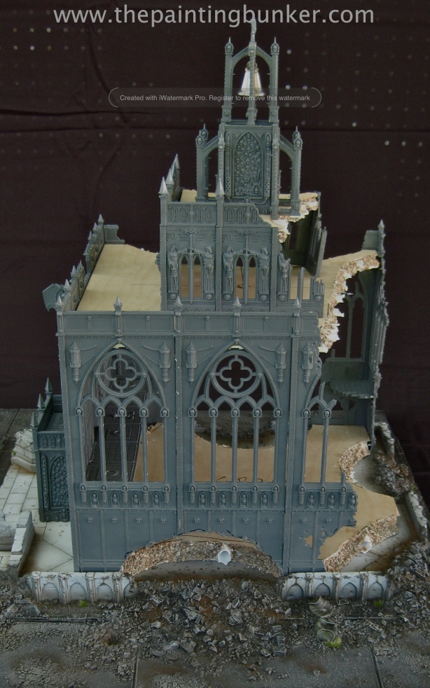 Forge World Realm of Battle Cityscape Shattered Plaza Cathedral 2 via www.thepaintingbunker.com