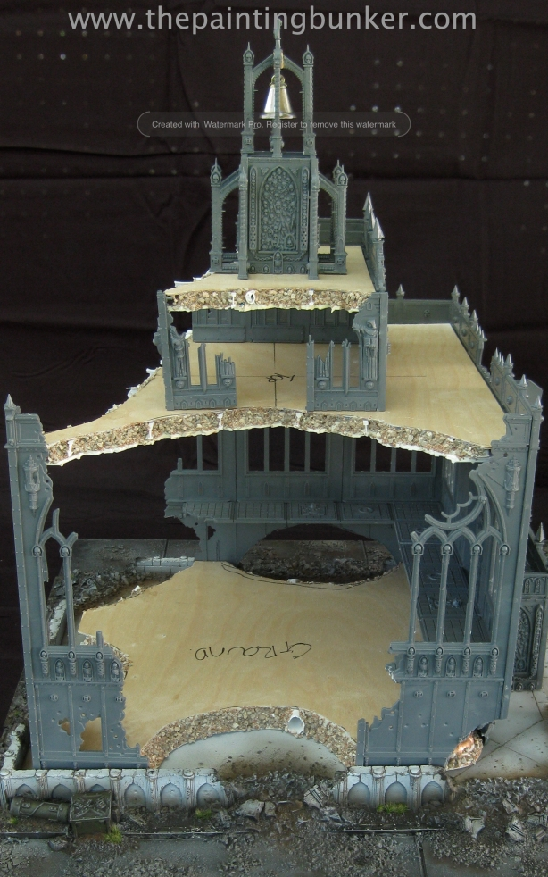Forge World Realm of Battle Cityscape Shattered Plaza Cathedral 4 via www.thepaintingbunker.com