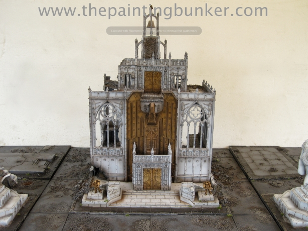 Forge World Realm of Battle Cityscape Shattered Plaza Cathedral Finished 1 via www.thepaintingbunker.com
