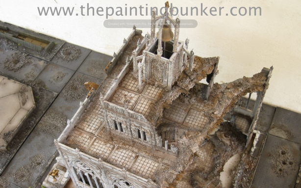 Forge World Realm of Battle Cityscape Shattered Plaza Cathedral Finished 10 via www.thepaintingbunker.com