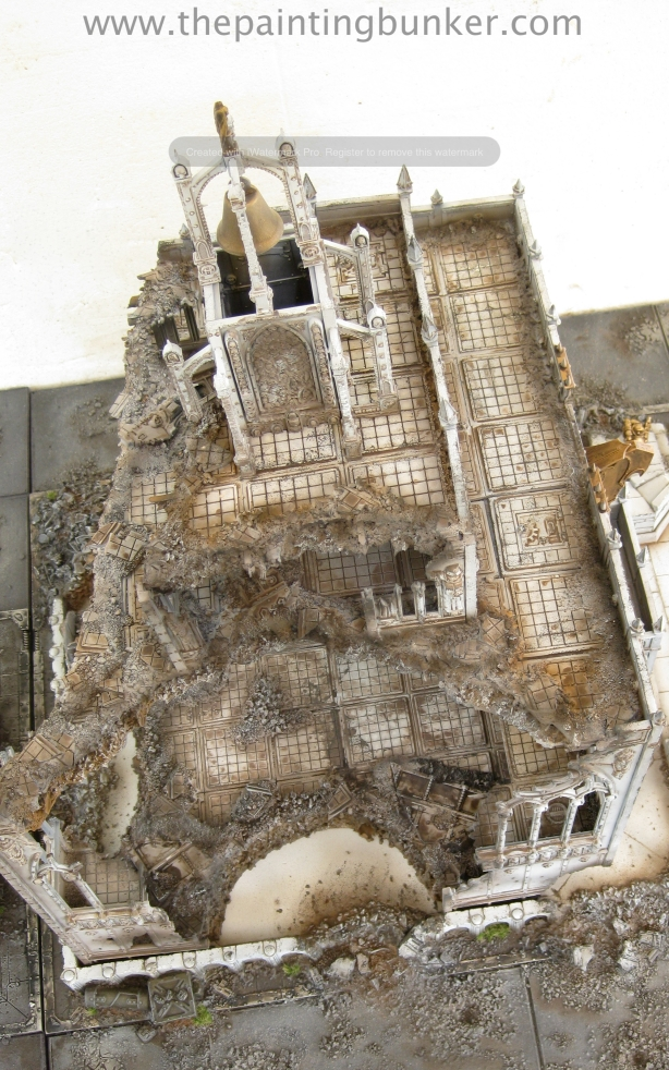 Forge World Realm of Battle Cityscape Shattered Plaza Cathedral Finished 11 via www.thepaintingbunker.com