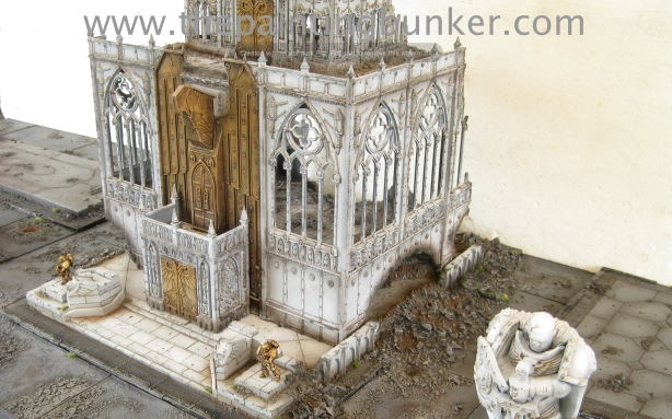 Forge World Realm of Battle Cityscape Shattered Plaza Cathedral Finished 2 via www.thepaintingbunker.com