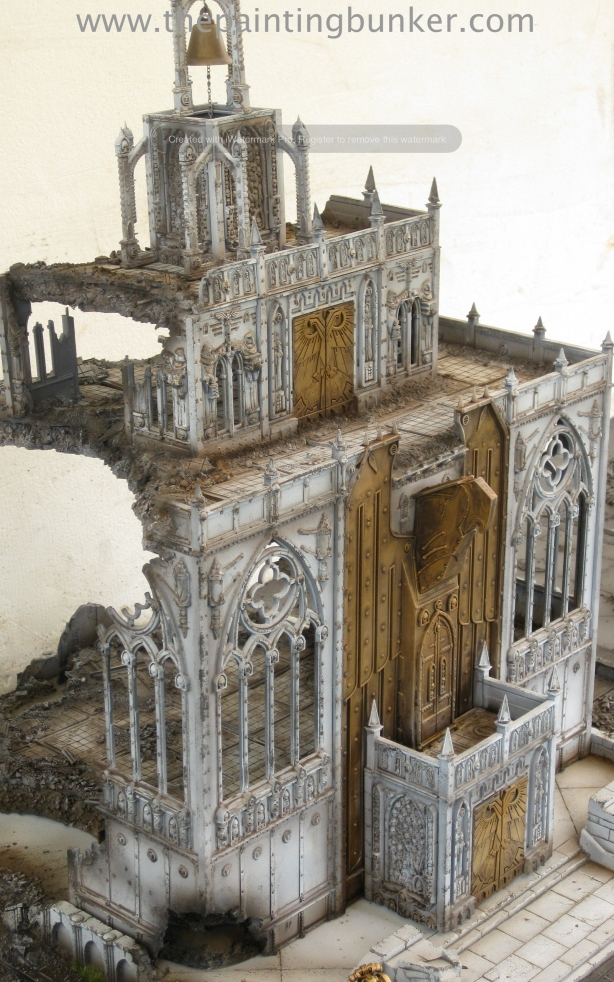 Forge World Realm of Battle Cityscape Shattered Plaza Cathedral Finished 4 via www.thepaintingbunker.com