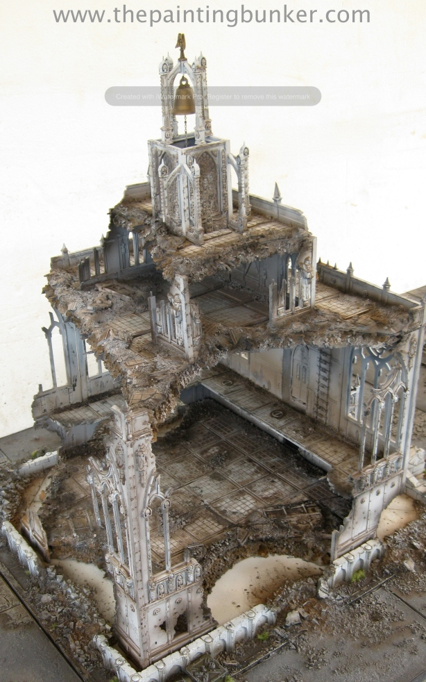 Forge World Realm of Battle Cityscape Shattered Plaza Cathedral Finished 5 via www.thepaintingbunker.com