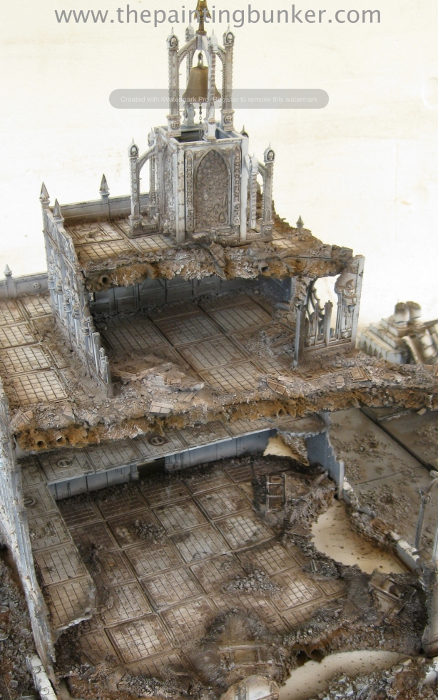 Forge World Realm of Battle Cityscape Shattered Plaza Cathedral Finished 6 via www.thepaintingbunker.com