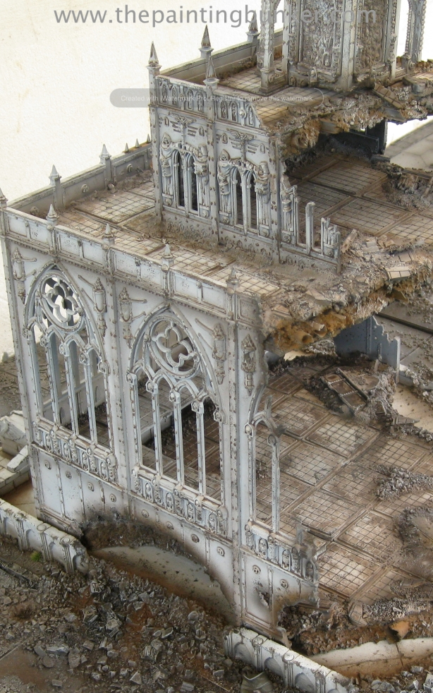 Forge World Realm of Battle Cityscape Shattered Plaza Cathedral Finished 7 via www.thepaintingbunker.com
