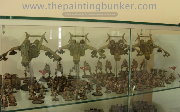 The Painting Bunker Dispaly Cabinet Imperial Guard 2 via www.thepaintingbunker.com