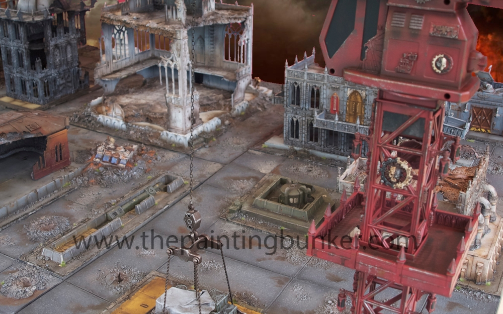 Forge World Realm of Battle Cityscape 6 x 4 board - Complete (5/6)