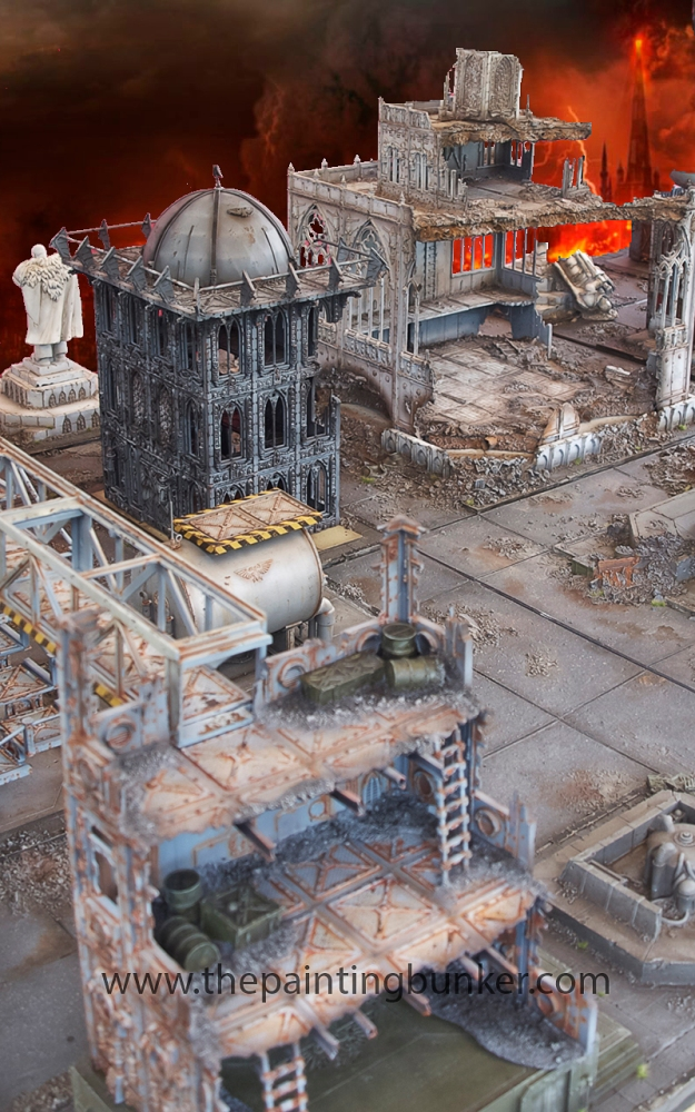 Forge World Realm of Battle Cityscape 6 x 4 board - Complete (6/6)