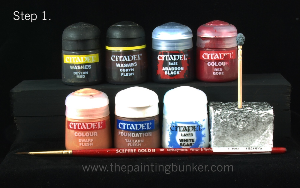How to paint Space Marine faces (1/6)