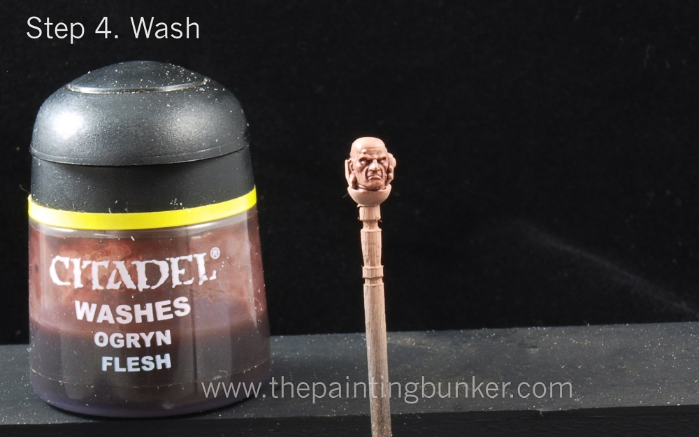 How to paint Space Marine faces (4/6)