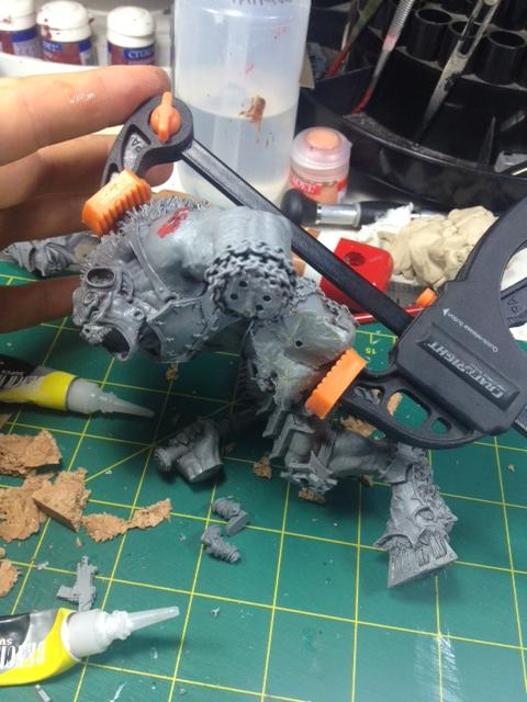 Forgeworld Greater Daemon of Khorn WIP 8