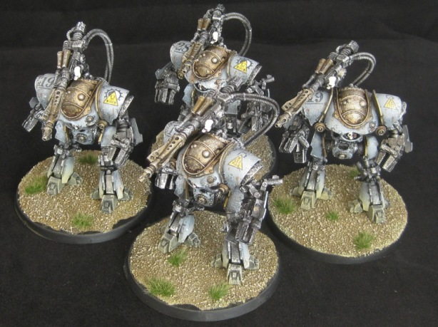 Mechanicum Castellax Battle-Automata With Darkfire Cannon Squad